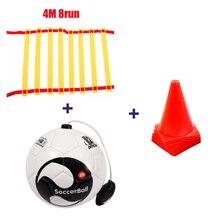 Футбол Размер 2 мяч удар Начинающий футбольный мяч тренировочный пояс тренировочное оборудование стандартные Бесплатные знаки и лестницы Мячи