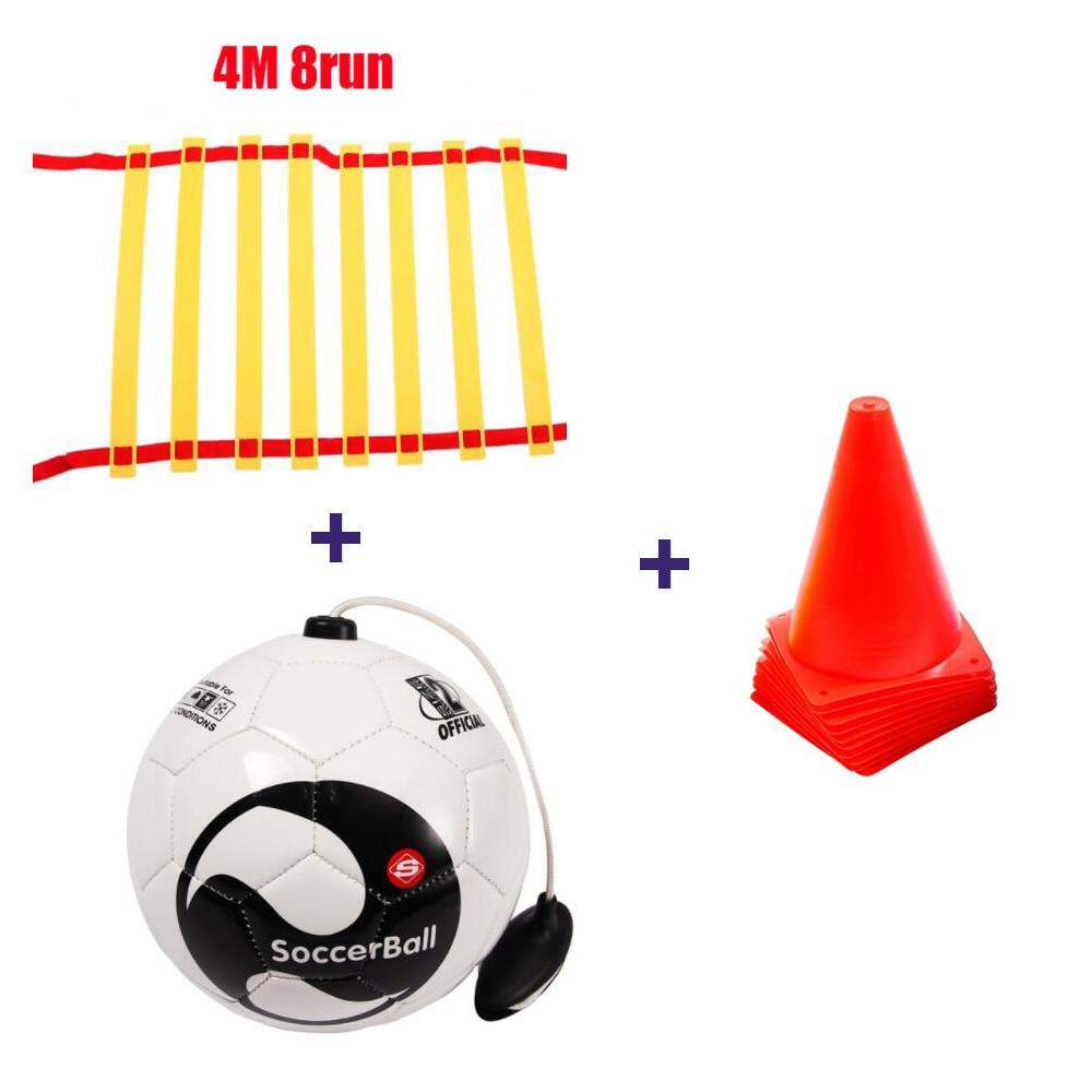 Football Size 2 BALL Kick beginner Soccer Ball Practice Belt Training Equipment Standard free Signs and ladders Balls