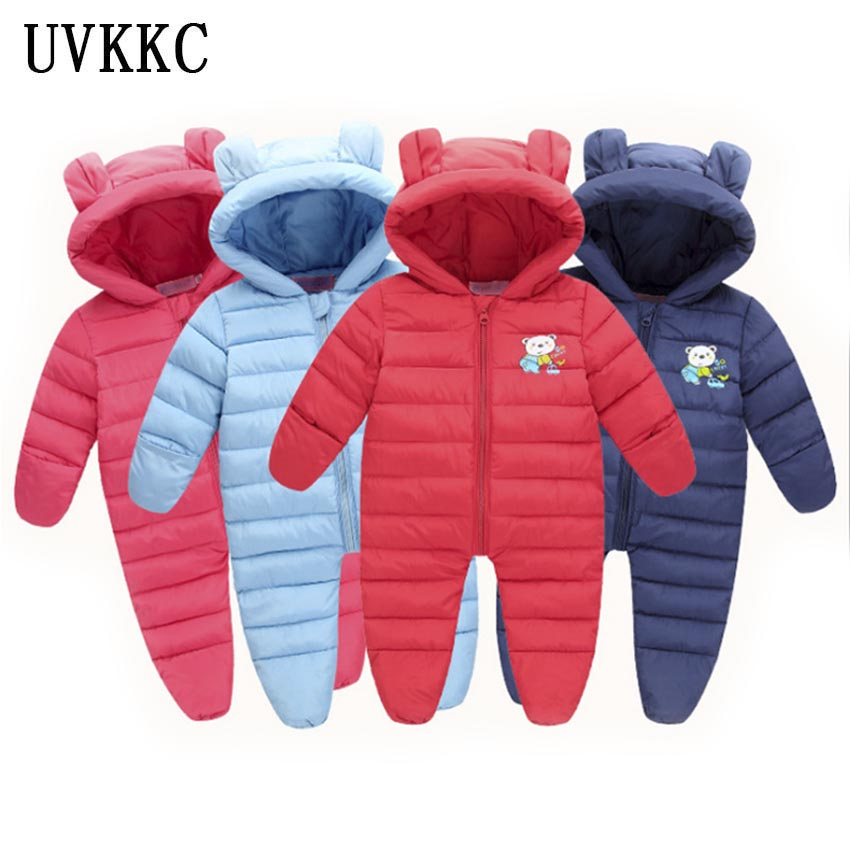 UVKKC Newborn baby clothes girl rompers jumpsuits winter autumn long sleeve cotton polyester hooded baby girls boys romper baby clothing newborn baby rompers jumpsuits cotton infant long sleeve jumpsuit boys girls spring autumn wear romper clothes set