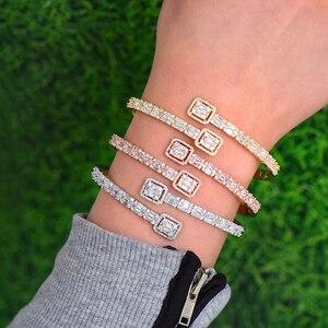 Image 5 - GODKI Conjunto de anillo de compromiso de lujo para mujer, conjunto de anillo de brazalete juegos de joyas para mujer, brincos para as mulheres 2020