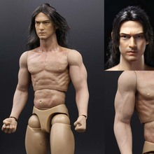 1/6 Scale Takeshi Kaneshiro Mens Head Sculpt Ghosts for 12 Inches Action Figures fit HT Body Model Hair planting