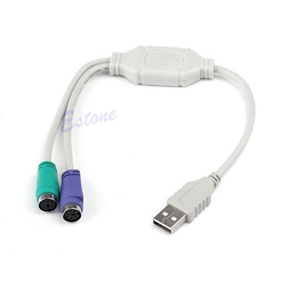 Usb Macho A Ps/2 Ps2 Hembra Convertidor Adaptador De Cable De Convertidor De Cable De Teclado