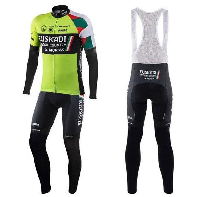 2018 maillot ciclismo orbea euskadi conjunto de ropa invierno hombre long  sleeve cycling jersey bike team set breathable clothes afa8f986bfc