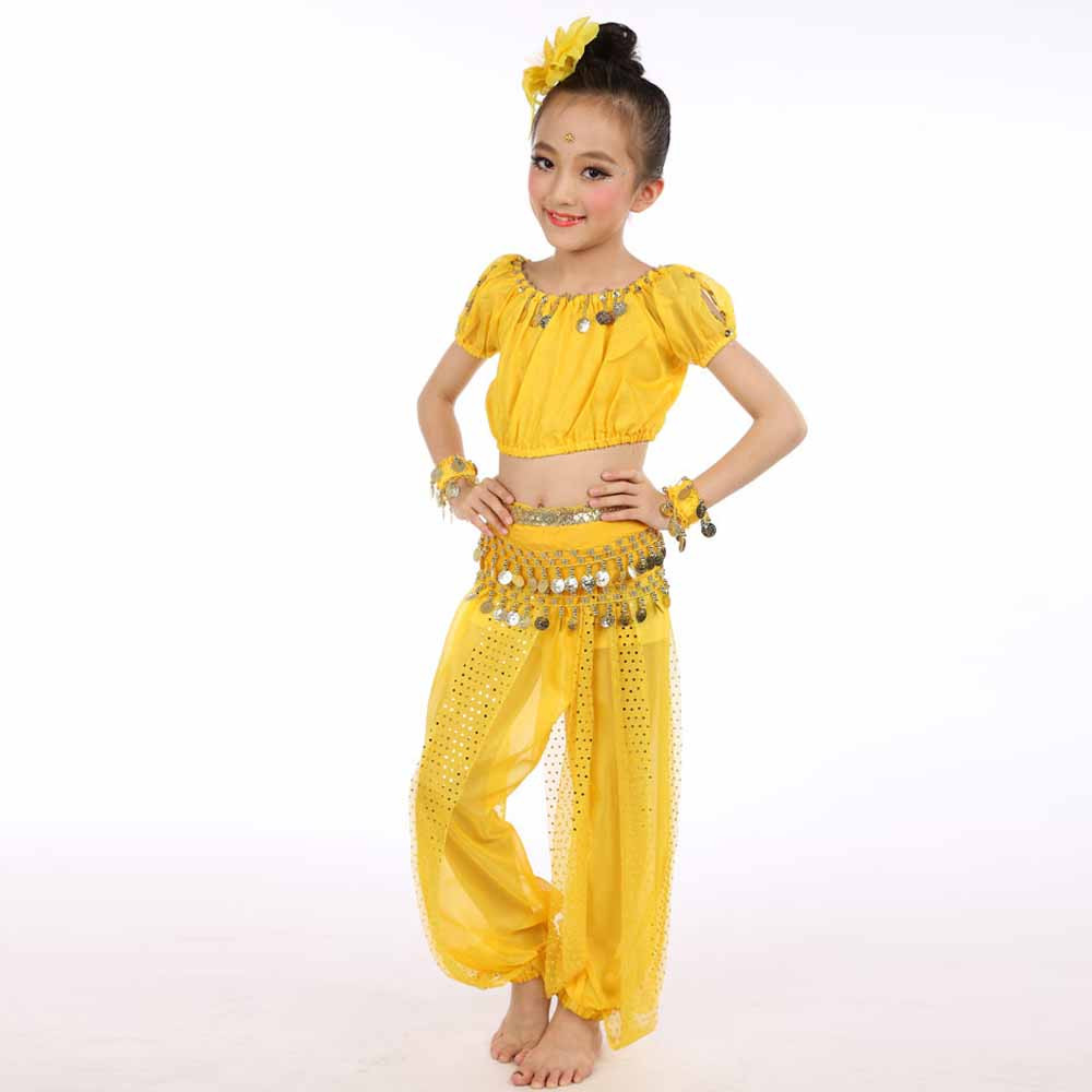 45852a54991 Chiffon Belly Dance Clothes 2019 Hot Sale Handmade Girl Costumes Kids Belly  Dancing Beading Egypt Dance Cloth-in Belly Dancing from Novelty   Special  Use on ...