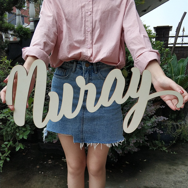 Customize Name Wood Table Letters Wedding Decor Personalized Signs Wooden Nursery Wall Decoration Custom Baby Sign