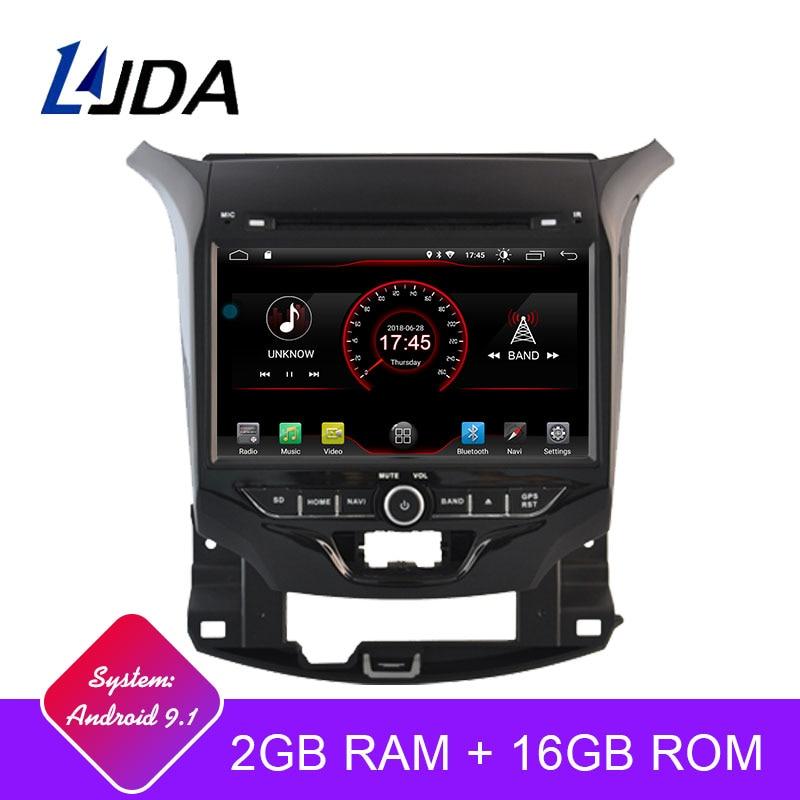 LJDA 2 Din autoradio Android 9.1 lecteur DVD de voiture pour Chevrolet Cruze 2015-2018 GPS Navigation stéréo WIFI multimédia IPS Canbus