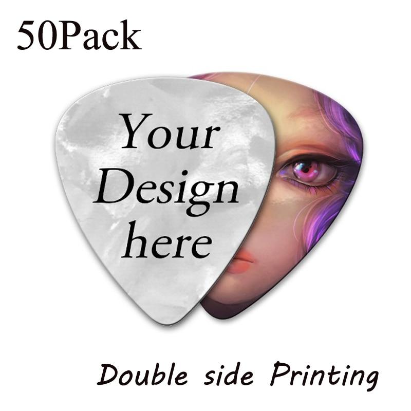 50 шт. заказной персональный Электрический выбор guita двухсторонняя печать вашего собственного логотипа изображения аксессуары для гитары