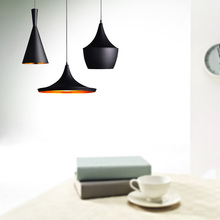 Black Modern Copper shade Chandelier Lights design Pendant Lamp Beat Light ,ABC(Tall,Fat and Wide) ,E27 AC110-240V