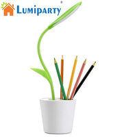 LumiParty Touch Sensitive Dimmable LED Desk Lamp USB Table Night Light Desk Lamp With Pen Holder
