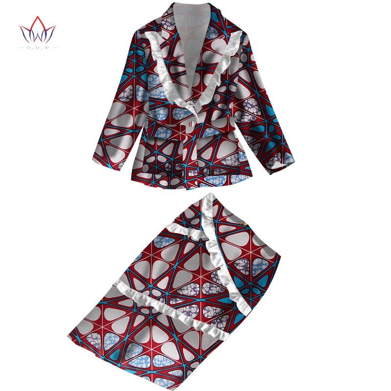 à vendre se connecter style attrayant 2018 summer dress Plus Size 2 Pieces African Print Dashiki ...
