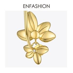 Image 5 - ENFASHIONดอกไม้Hoopต่างหูทองสีงบวงกลมขนาดใหญ่Hoopsต่างหูแฟชั่นเครื่องประดับPendientes Mujer EF191047