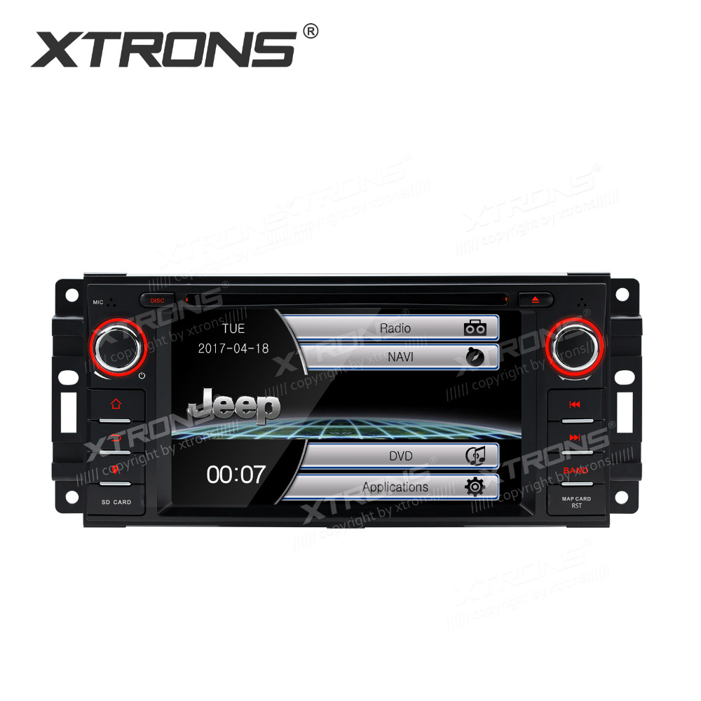 Vehicle Stereo Gps Navigation For Chrysler 300c Jeep Dodge: XTRONS 6.2 Inch 1 Din GPS Navigation Radio Stereo Car DVD