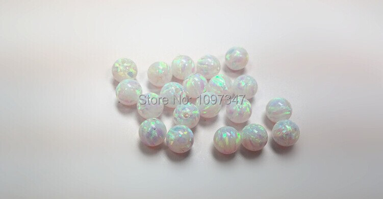 Image 5 - Opal  Bead 3mm/4mm/5mm/6mm/7mm Opal Synthetic Beads White Fire Synthetic Opal Ball-in Beads from Jewelry & Accessories