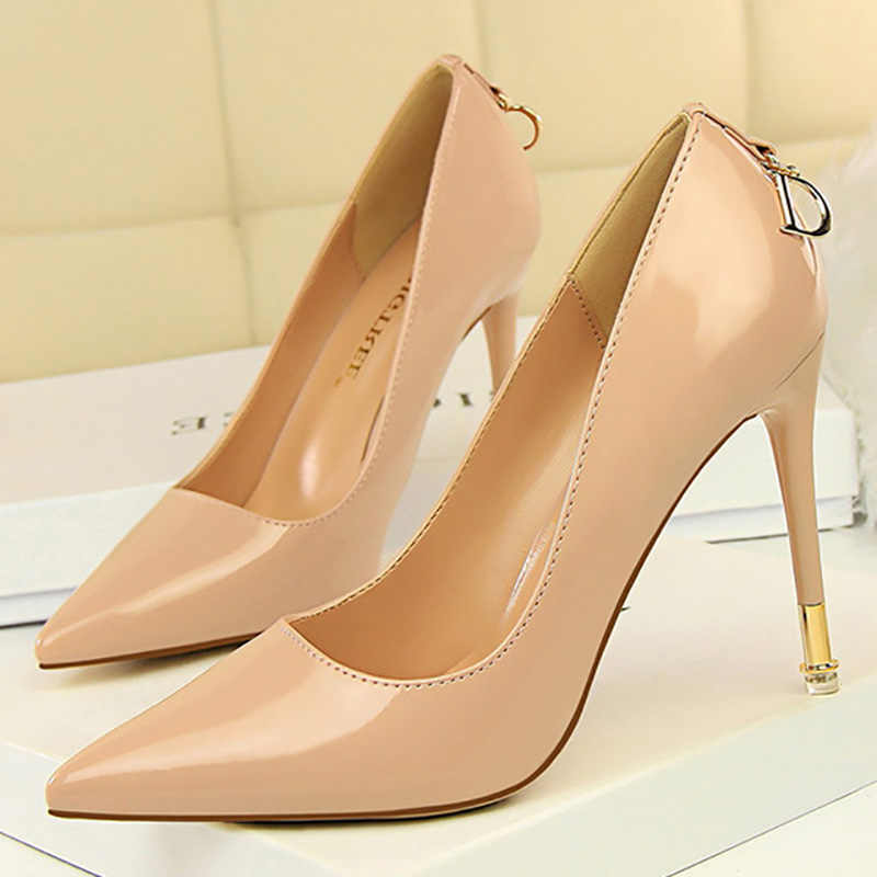 4a2267d3803 Bigtree Shoes Women Pumps Patent Leather Women Shoes Spring High Heels  Women Wedding Shoes Fashion Kitten Heels Party Shoes Pink
