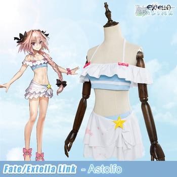 Disfraz de Cosplay de Link de Fate/Extella, Black Rider Astolfo, traje de baño de verano para mujer, traje de baño Cosplay