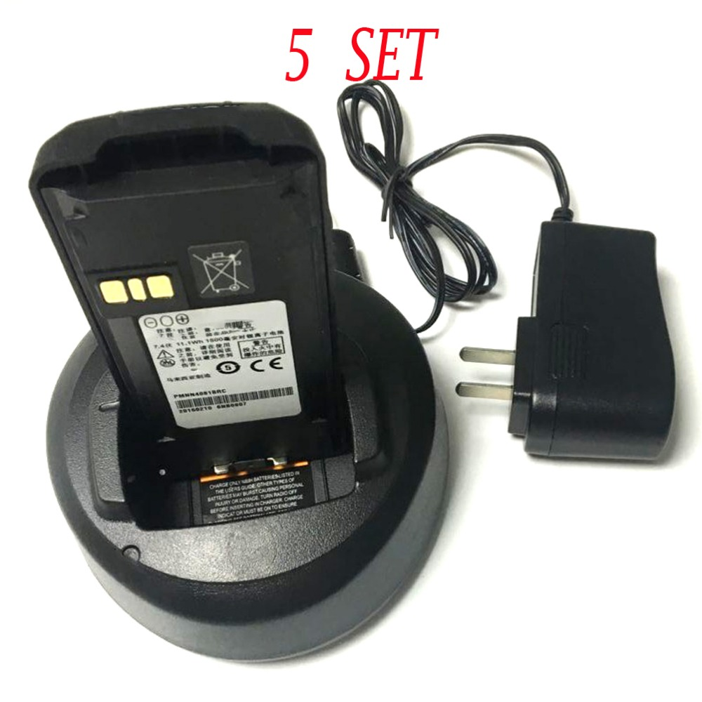 5pcs Black Battery Charger For Motorola Walkie Talkie Cp185 Handy Talky Cp1300 Ep350 Cp476 Cp477 Cp1600 Cp1660 P140 P145 P160 In From Cellphones