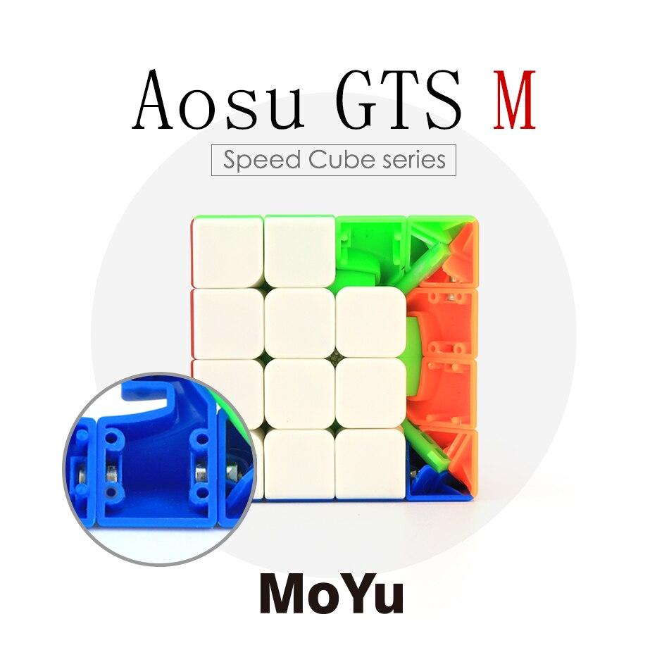 Moyu Caas GTS M 62mm 4x4x4 SpeedCube Noir/Stickerless Cube Magique Magnétique Version Cube Puzzle Éducatif Spécial Jouets YJ8259