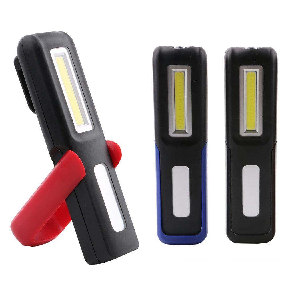 2017 Portable COB LED Flashlight Magnetic Work Light USB