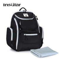 INSULAR Waterproof Sports Diaper Bags Backpack baby bag for Mom Dad Mummy Travel Large capacity with Wet Bag