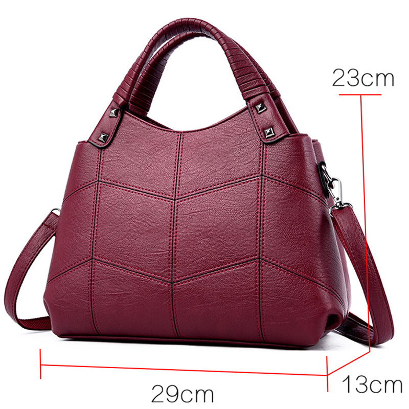 Image 3 - 2019 Luxury Handbags Women Bags Designer Brand Sac A Main Female Leather Top handle Shoulder Bag Bolsas Vintage Hand Bag LadiesShoulder Bags   -