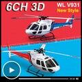 Wltoys WL V931 3D 6CH RC helicóptero con Motor sin escobillas Gyro Flybarless 6 ejes 3 hoja AS350 escala pequeños ardilla