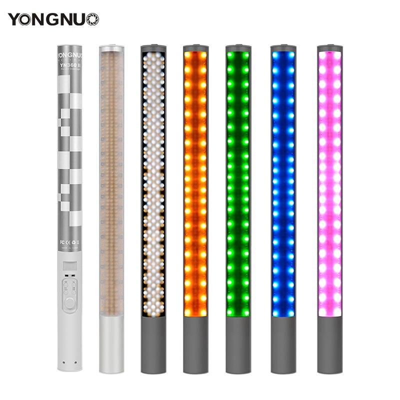 Yongnuo yn360ii yn360 ii gelo/pixel led vara bicolor 3200k 5500k controle app bluetooth luz de vídeo rgb colorido foto led vara