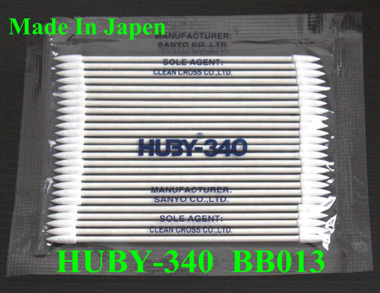 100 Pack (25 pc/pack) Asli 340 BB-013 huby Cleanroom Kertas Menangani Kapas Tongkat untuk Printer PRINTHEAD CLEANING