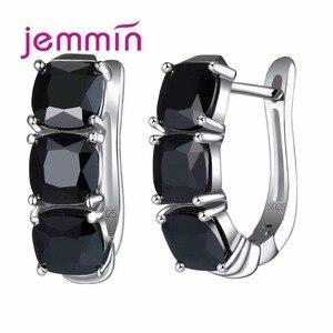Luxury Black Crystal 925 Sterl