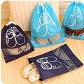 Acessórios de Viagem Reutilizável Organizador de Sapato de Viagem Portátil Bolsa à prova de poeira Tampa Da Sapata Sapato Cordão Saco Pacote