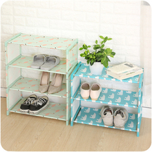Simple Non-woven Cloth Fabric Storage Shoe Rack Hallway Shoe