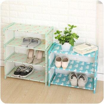 Simple Tela No Tejida Almacenamiento Zapatero Pasillo Zapato Organizador Puerta Zapato Almacenamiento Gabinete Diy Muebles Para El Hogar