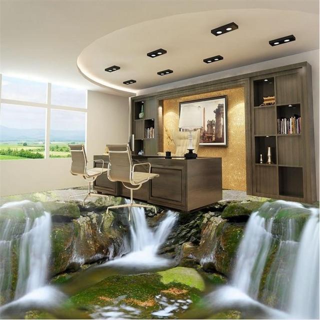 Beibehang Custom 3d Floor Tiles Waterfall Water Wall Paper Home Photo  Wallpaper Vinyl Flooring Adhesives Bedroom