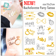 Bachelorette Party Tattoos Gold Metallic Tattoos Team Bride Temporary Tattoos, Fake Tattoos, Metallic Gold Bridesmaid Gift
