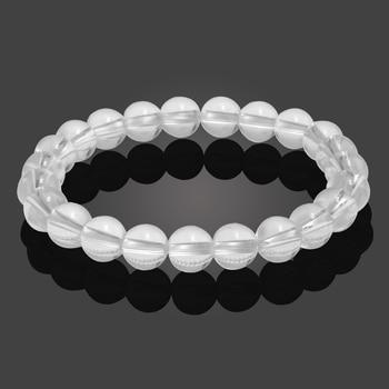 Classic Black Natural Stone Bracelet Men Charms Blue White Transparent Beaded Bracelets Women Yoga Buddha Chain Bangles Jewelry 3
