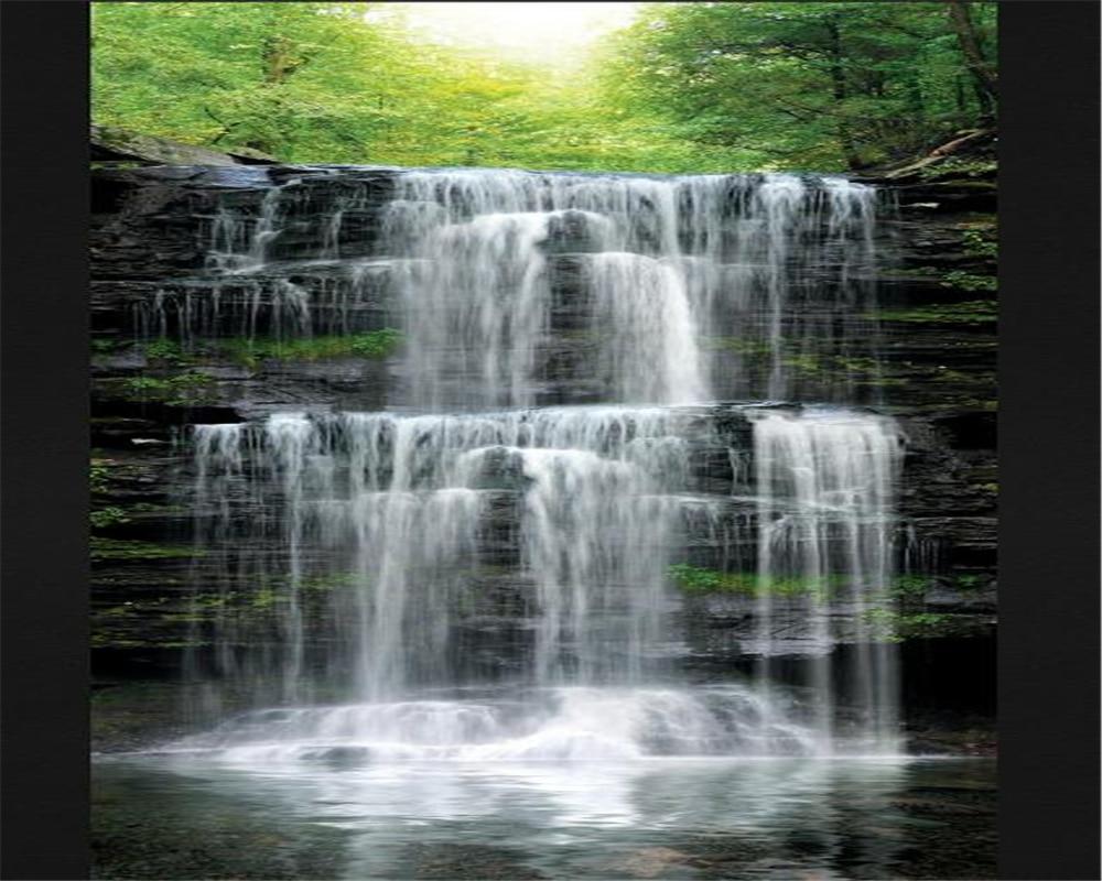 beibehang 3d wallpapers water beautiful scenery waterfall landscape