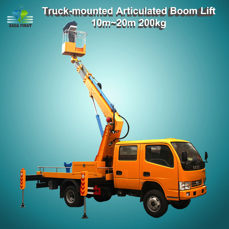 Vehicle Mounted Boom Lift Aerial Man Lift For Maintenance Work