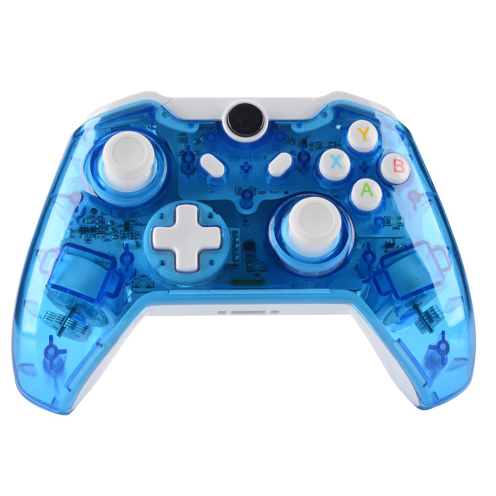Manette sans fil pour manette Xbox One manette de jeu pour Windows PC anti-rayures coque transparente Gamepad