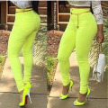 2016 New Spring Candy Color Skinny Women Pencil Pants Female Bright Green Slim Pants Sexy High Waist Leggings
