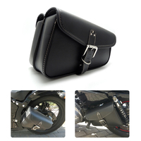 Motorcycle PU Leather Swingarm Bag Saddlebags Tool Pouch Side Bag Storage For Harley