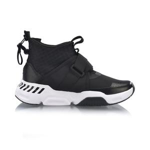 Image 3 - Li Ning Women SURVIVER K Walking Shoes Mid cut Zipper Buckle Leisure Durable Anti slip LiNing Sport Sneakers AGLP046 SJFM19
