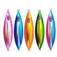 2018 ANZHENJI Laser Lead 150g/200g Fishing Lure Troll Luminous Boat Bait Slow Jig Iron Plate