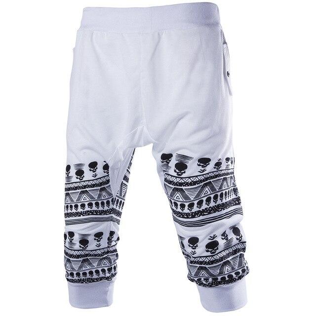 Горячая Продажа!! летняя Мода 3 Цвета M-XXL Случайные Свободные Мужские Капри Обрезанные Короткие Штаны Бегуном Шорты Мужчины