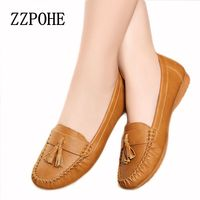 2016new Fashion Tassels Soft Bottom Tendon At The End Shoes In The Elderly Flat Work Shoes