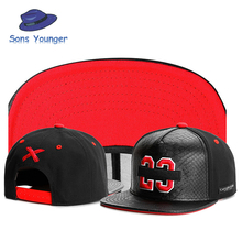 New brand C&S 23 BL BANNED CAP Black leather sport hip hop sun cap baseball hat snapback cap for men women Box packaging