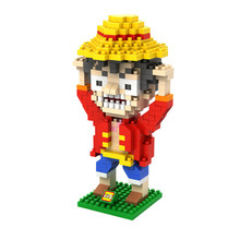 LOZ 9821 Japanese Anime Series One Piece Monkey D Luffy Diamond Bricks Minifigures Building Block Compatible with Legoe