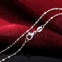 5pcs/lot Pure Silver Necklaces for Men Women Bamboo Chain Necklace 16-30 inch Long Collier Choker Fashion Jewelry Bijoux Gifts pure 925 silver necklaces for women key pendant necklace 2mm ball chain collier femme choker fashion jewelry accesories bijoux