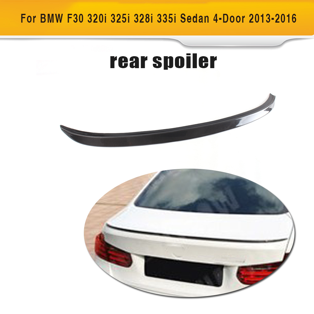 Carbon Fiber Car Rear Trunk boot Lip Spoiler Wings for BMW F30 320i 325i 328i 335i Sedan 4-Door 2013-2016 M Style car rear trunk security shield cargo cover for volkswagen vw tiguan 2016 2017 2018 high qualit black beige auto accessories