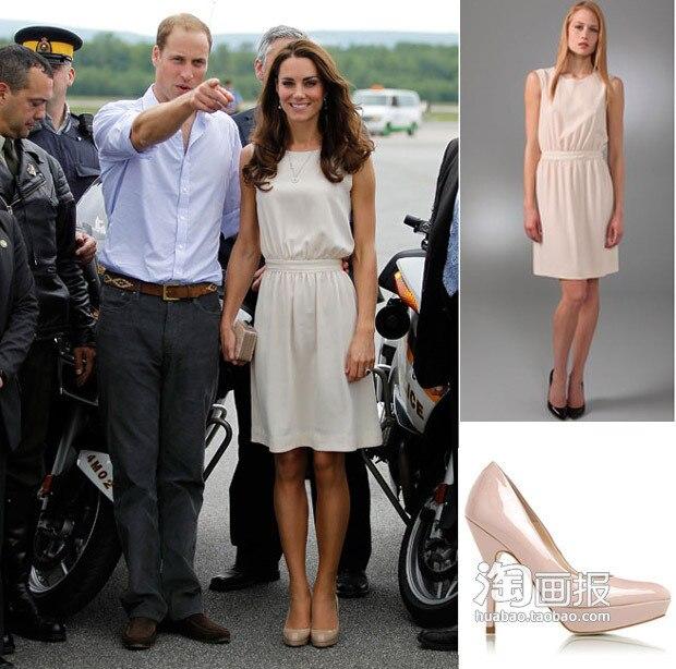 Princess Kate Middleton Same Style 2014 New Spring Summer Women Brand Sleeveless O Neck White
