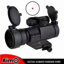 Promo offer Element Rifle scope 32mm M2 Sighting Telescope Laser Gun Sight Reflex Red Green Dot Scope Weaver Rail Cantilever Mount AO5033
