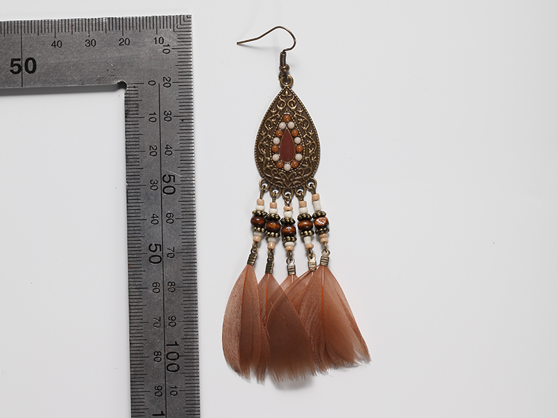 Light Coffee Feather Coffee Color Zinc Alloy Dangles Taobao Lynx Earrings  For Spring In Drop Earrings From Jewelry U0026 Accessories On Aliexpress.com |  Alibaba ...
